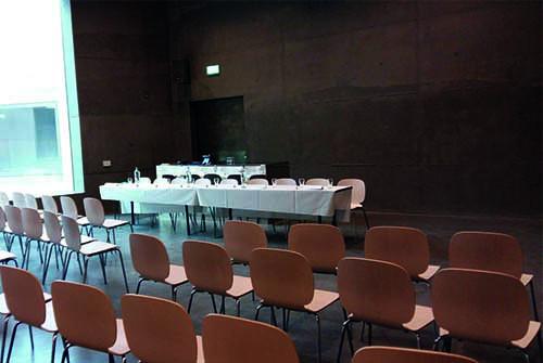 Auditorium Fort bij Vechten van achter