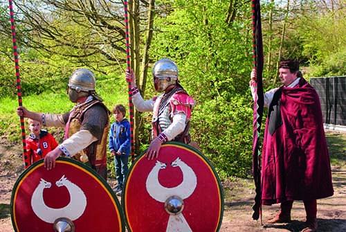Romeinse soldaten Fort Vechten