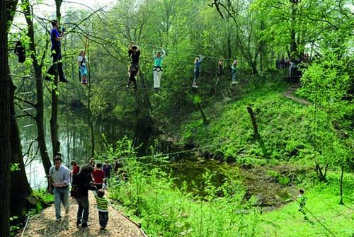 Buiten klimmen Fort Vechten