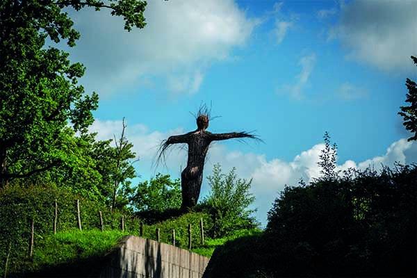 Waterliniemuseum buiten standbeeld Fort bij Vechten